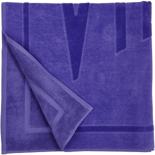 Others Solid - Beach Towel in terry cloth Solid Jacquard, Hyacinth back