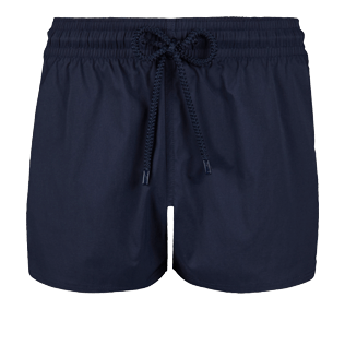 Men Short classic Solid - Men short and fitted stretch swimwear solid, Navy front