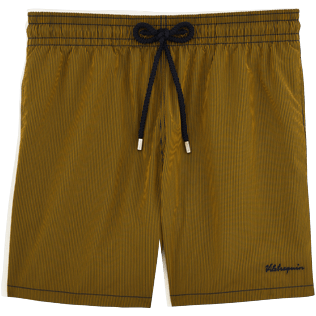 Men Classic / Moorea Graphic - Micro Rayures Graphic Swim shorts, Turmeric front