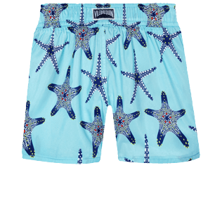 Girls Others Printed - Girls Light fabric Swim Short Starfish Dance, Lazulii blue back