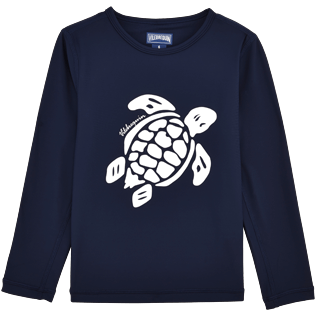 049 Unita - T-shirt maniche lunghe Anti-UV Turtles, Blu marine front