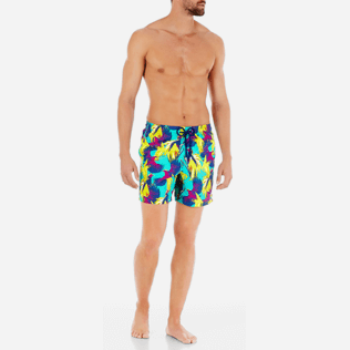 Men Classic Printed - Men Swimtrunks Birds of Paradise, Veronese green frontworn