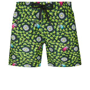 Boys Others Printed - Boys Swimwear Where is my peacock, Lemongrass front
