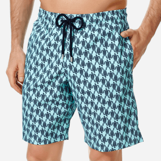 Homme CLASSIQUE LONG Imprimé - Maillot de Bain Homme Long Stretch Armor Turtles, Acqua supp1