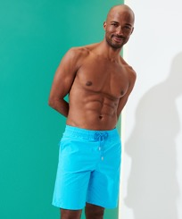 Men Long classic Magic - Men Swim Trunks Long Ronde Des Tortues Water-reactive, Horizon frontworn