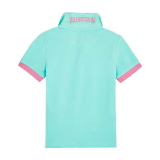 Boys Others Solid - Cotton Boys Polo Shirt Solid, Acqua back