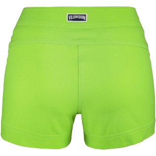 Women Shorties Solid - Women Stretch Swimwear fabric Shortie Solid, Wasabi back