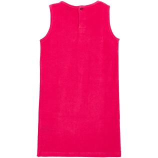 Girls Others Solid - Girls Terry Cloth Sleeveless Dress Solid, Gooseberry red back