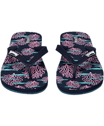 Men Others Printed - Men Flip Flops Coral & Fish, Navy frontworn