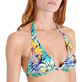 Donna Foulard Stampato - Top bikini donna all'americana Jungle, Midnight blue supp1
