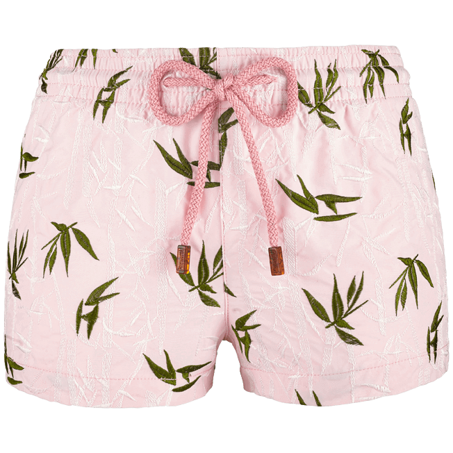 Vilebrequin - Shorty Femme Broderie Bamboo Song - 1