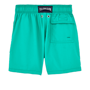 Boys Classic / Moorea Printed - Boys Water-Reactive Swimtrunks Hypnotic Turtles, Veronese green back