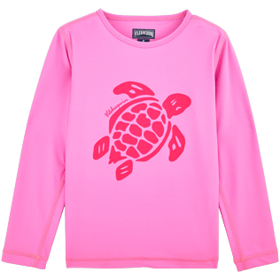 049 Solid - Turtles Anti-UV long sleeves T-Shirt, Pink front