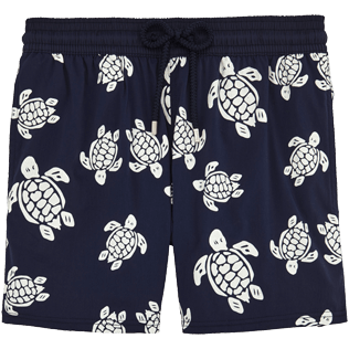 Men Stretch classic Printed - Turtles Glow in the Dark Superflex Swim shorts, Navy front