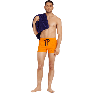 Men Short classic Solid - Men Swim Trunks Short and Fitted Stretch Solid, Safran supp2