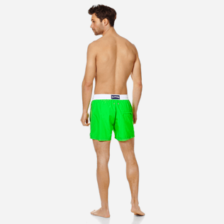 Men Ultra-light classique Solid - Men Swim Trunks Ultra-Light and Packable Solid Bicolore Fluo, Neon green backworn
