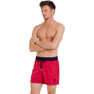 Men Ultra-light classique Solid - Men Swim Trunks Ultra-light and packable Bicolor, Gooseberry red frontworn