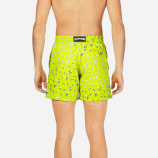 Men Classic / Moorea Embroidered - Men Swimtrunks Embroidered Micro ronde des tortues - Limited Edition, Chartreuse supp2