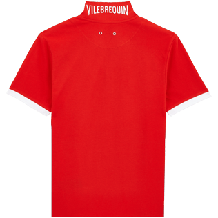 Men Others Solid - Men Cotton Polo Shirt Solid, Medicis red back