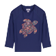 Others Printed - Kids Rashguard Starfish Dance, Sapphire front