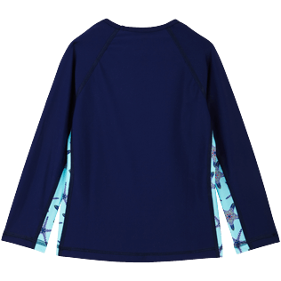 Others Printed - Unisex long sleeves Rashguard Starfish Dance, Batik blue back