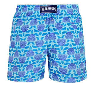 Men Ultra-light classique Printed - Men Swimwear Ultra-Light and Packable Shellfish and Turtles, Acqua back