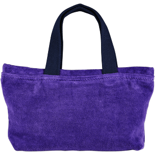 Bags Solid - Beach Pouch in Terry Cloth Solid Jacquard, Amethyst front
