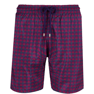 Men Long classic Printed - Men Swimtrunks Long Ultra-light and Packable Perspective Fish, Plum front