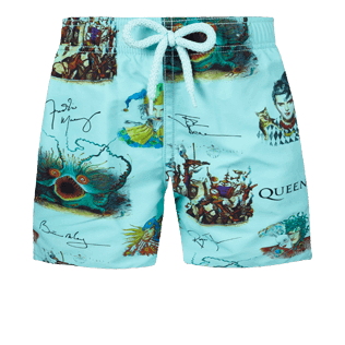 Boys Others Printed - Boys Swimwear Joker Queen, Aquamarine front