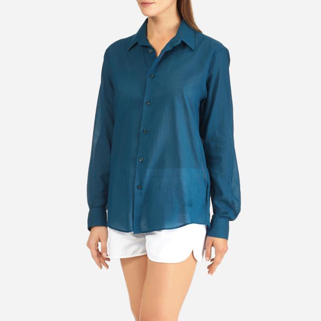 Vilebrequin - Camisa en gasa de algodón con estampado liso unisex - 10