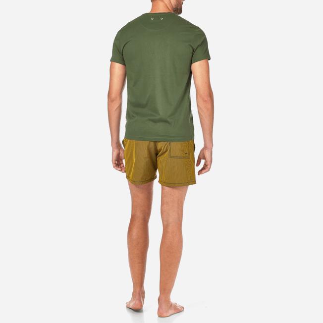 Vilebrequin - Solid V-neck Mercerized cotton T-Shirt - 4