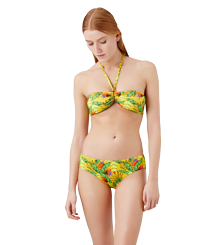 Women Classic brief Printed - Women Bikini Bottom covering brief Go Bananas, Curry frontworn