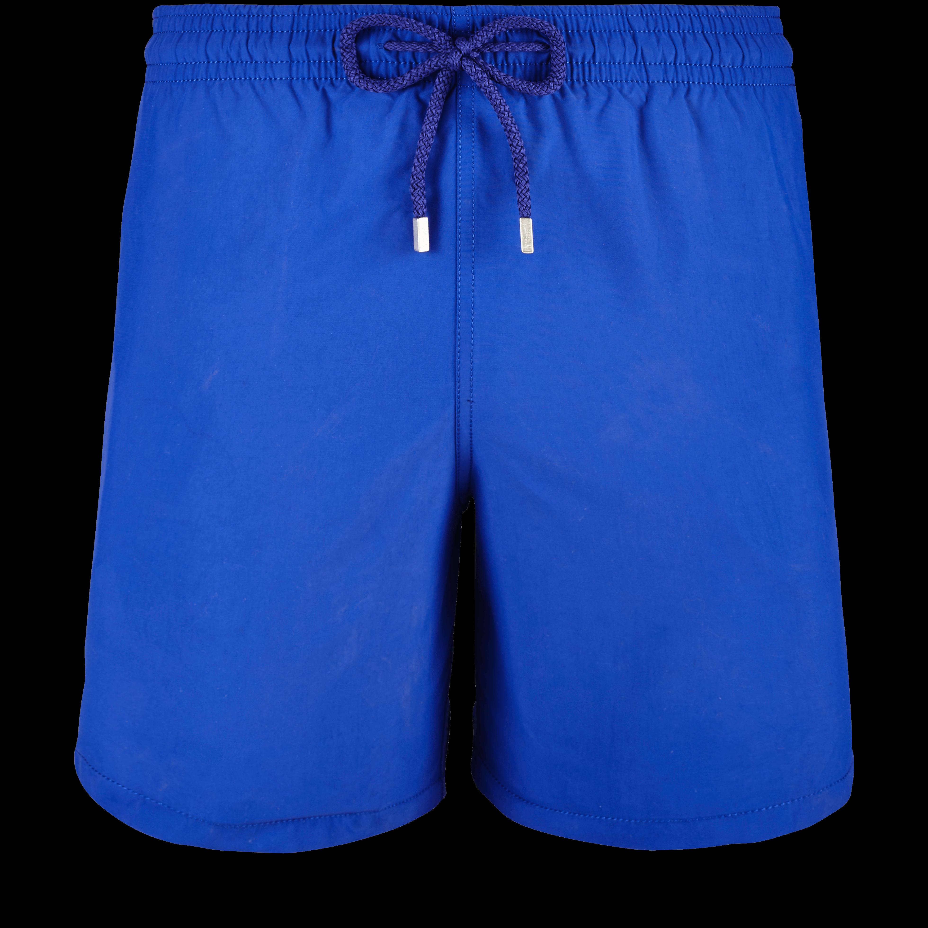 Men Swimwear - Men Water-Reactive Swimwear Starfish Art - Swimming Trunk - Moorea in Blue