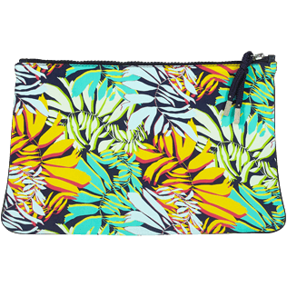 Others Printed - Zipped Beach Pouch Jungle, Midnight blue back
