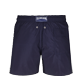 Men Classic Embroidered - Men Swim Trunks Placed Embroidery Le Vilebrequin, Navy back