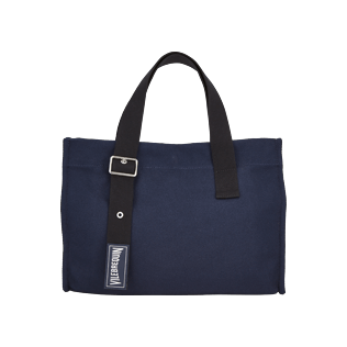 Others Solid - Small Cotton Beach Bag Solid, Navy front