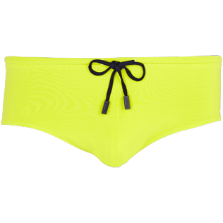 Men Swim brief and Boxer Solid - Men Fitted Swim Brief Solid, Chartreuse front