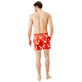 Men Stretch classic Printed - Men Swimwear Stretch St Valentin 2020, Medicis red backworn