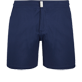 Men Flat belts Solid - Men Flat Belt Stretch Swim Trunks Solid, Navy front
