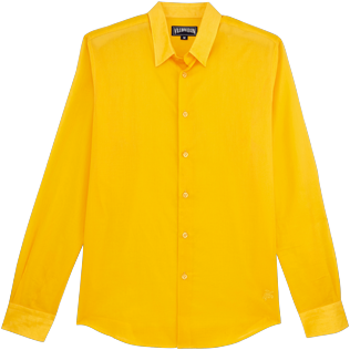 Others Solid - Unisex Cotton Shirt Solid, Mango front