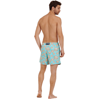 Men Classic Printed - Men Swim Trunks Poulpes, Lagoon backworn