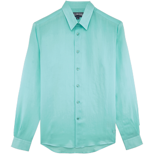 Men Others Solid - Unisex Cotton Shirt Solid, Lagoon front