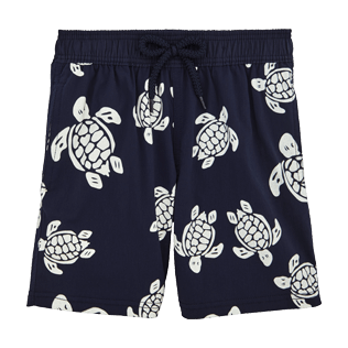 Boys Classic / Moorea Printed - Turtles Glow in the Dark Superflex Swim Shorts, Navy front