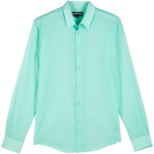 Andere Uni - Unisex Solid Hemd aus Baumwolle, Mint front