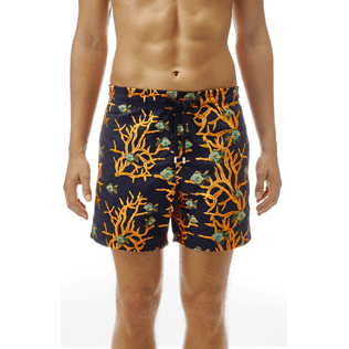 Men Classic / Moorea Embroidered - All Over Coral and Fish Embroidery Swimwear, Navy supp2