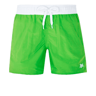 Boys Others Solid - Boys Swimwear Ultra-Light and Packable Solid Bicolor Fluo, Neon green front