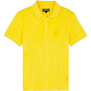 Men Others Solid - Men Terry Cloth Polo Shirt Solid, Citron front