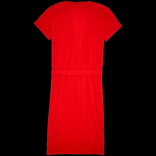 Vilebrequin - Robe Portefeuille Lin Unie - 2