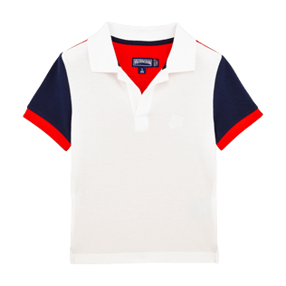Boys Polos Solid - Boys Cotton Pique Polo shirt Multicolor, Navy front