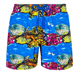 Men Classic Printed - Men Swim Trunks Vilebrequin x Hunt Slonem, Atoll front